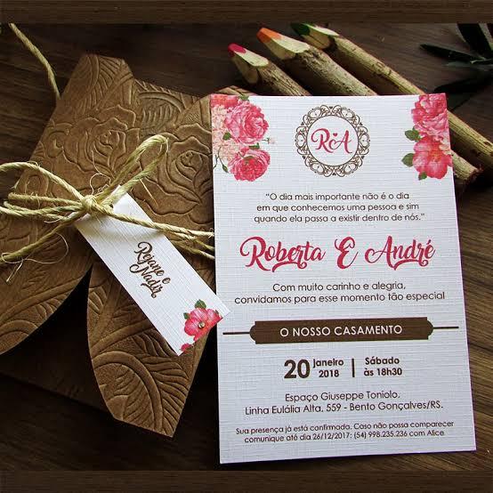 convites para casamento ao ar livre