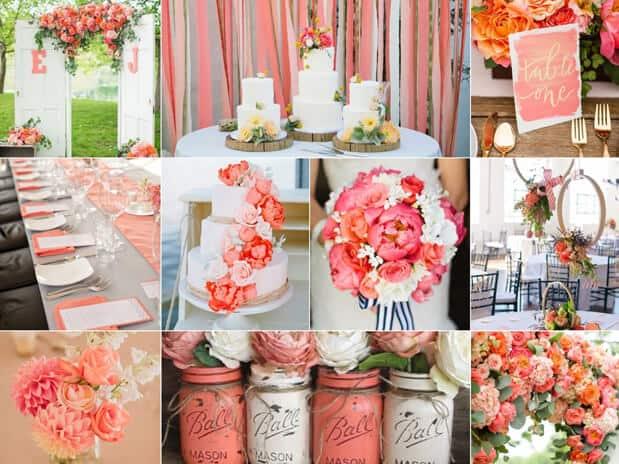 cores para decorar casamentos
