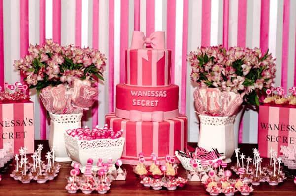cores para festa 15 anos com rosa
