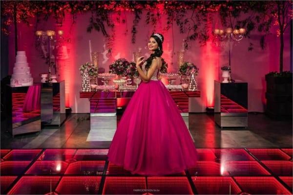 cores para festa 15 anos rosa pink