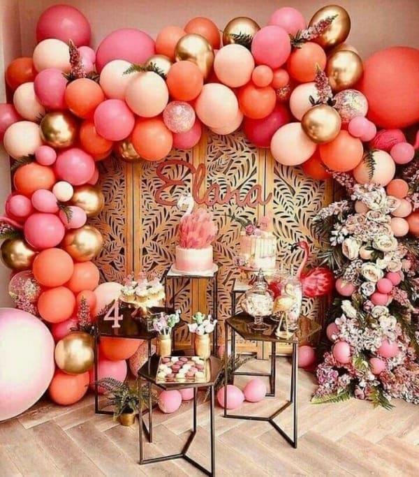 cores para festa de 15 anos living coral