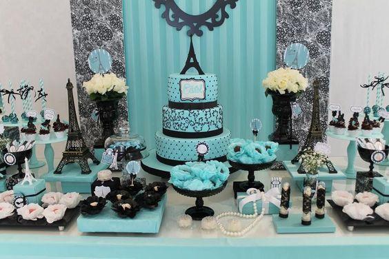 cores para festa de 15 anos verde mesa do bolo