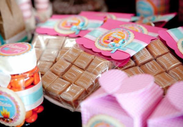 cubinhos de caramelo