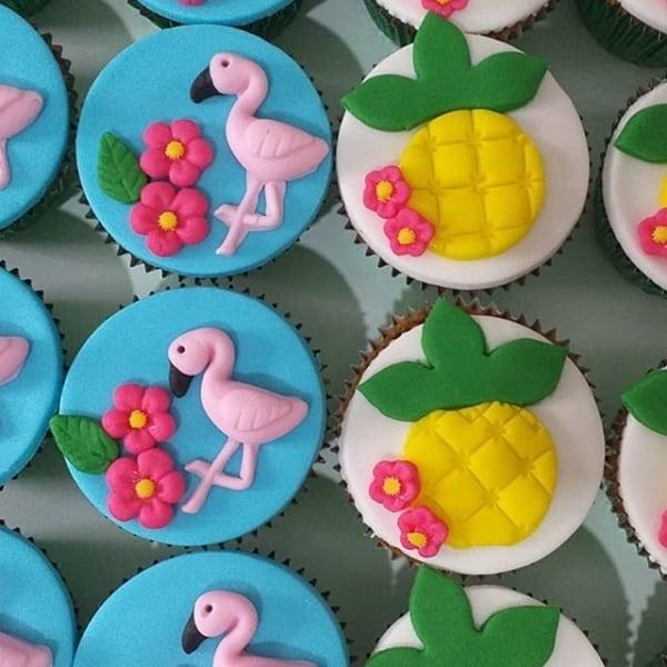 cupcake de flamingo
