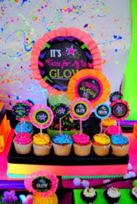 cupcakes neon