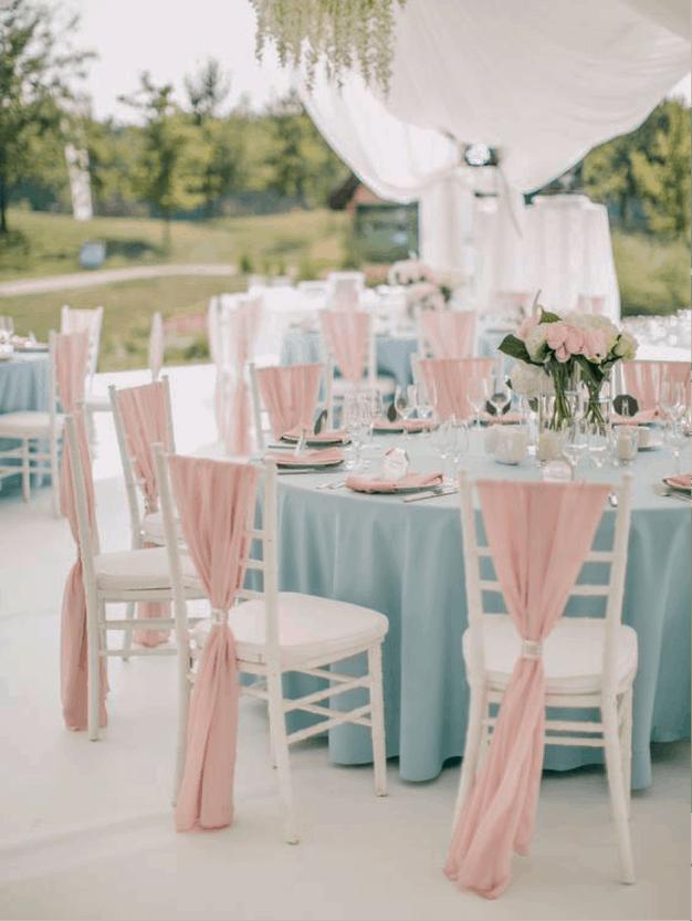 decoração de cadeiras em casamentos