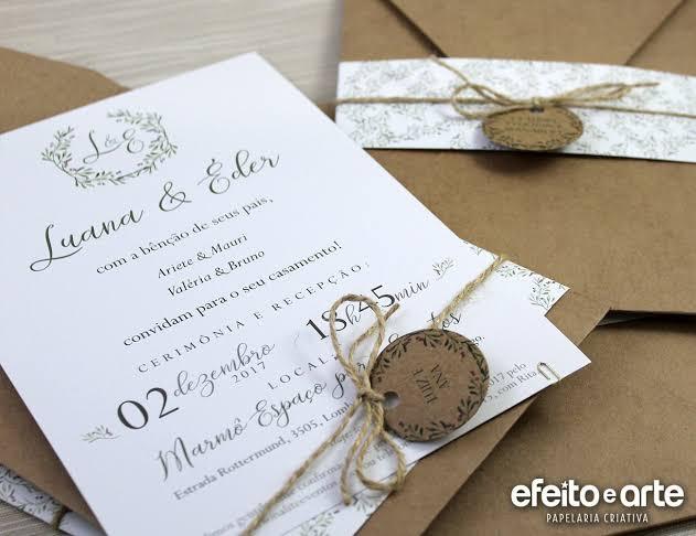 dica de convite para casamento ao ar livre