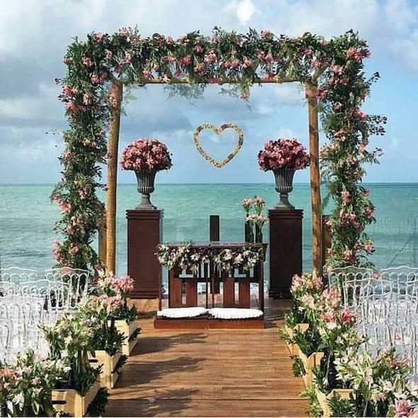 dica de ornamentação de casamento na praia