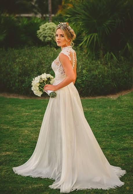 dica de vestido de noiva para casamento ao ar livre