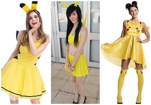 fantasia pikachu com vestido amarelo