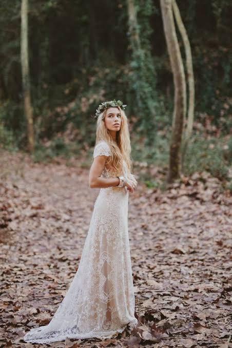 ideia de noiva para casamento ao ar livre