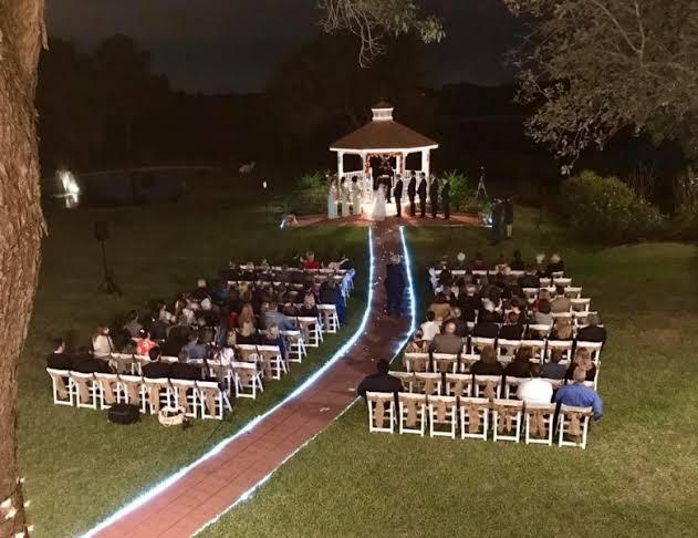 ideias de casamento ao ar livre a noite