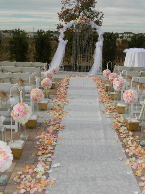 ideias de casamento ao ar livre simples