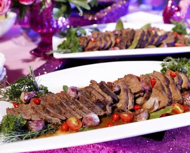 jantar na festa de debutantes