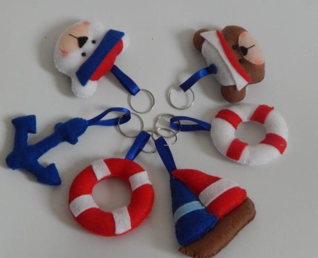 lembrancinhas de feltro para chá de bebê marinheiro