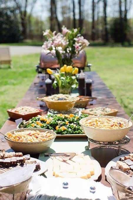 menu de cardapio para casamento ao ar livre