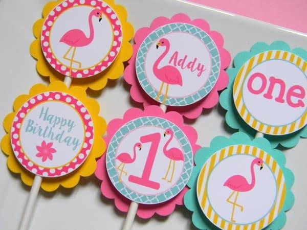 modelo de plaquinhas para cupcake