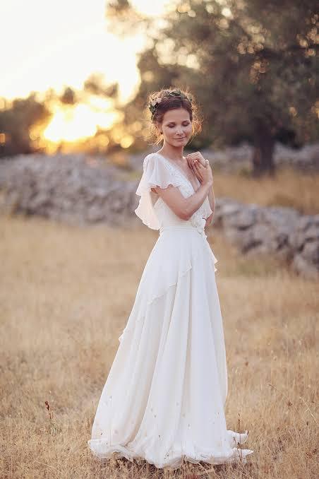noiva para casamento ao ar livre