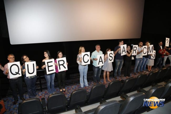 pedido de casamento no cinema