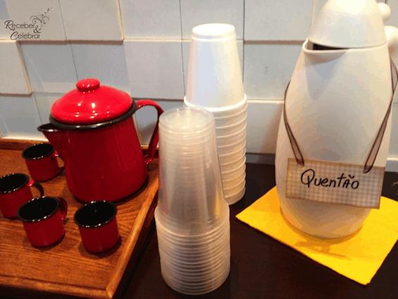 quentão em chá de bebê junino