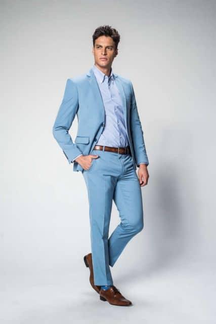 terno azul claro para casamento