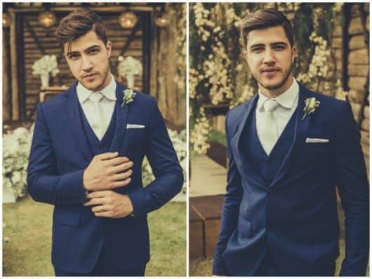 terno azul e branco