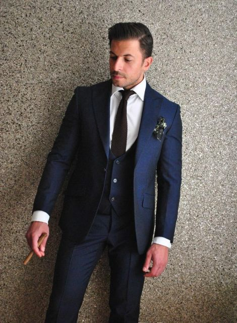 terno azul escuro para casamento