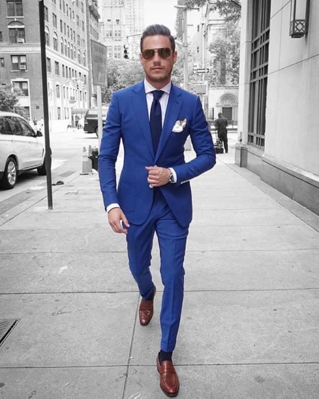 terno azul para casamento de dia