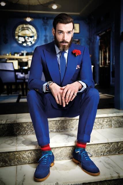 terno azul para casamento