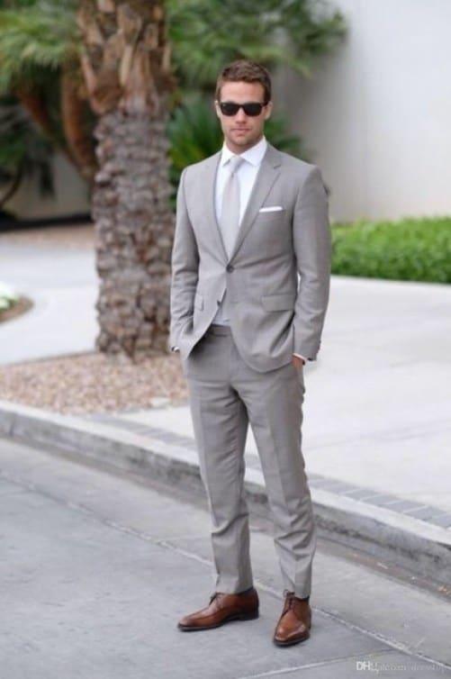 terno cinza para casamento de dia