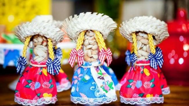 tubetes decorados para chá de bebê junino