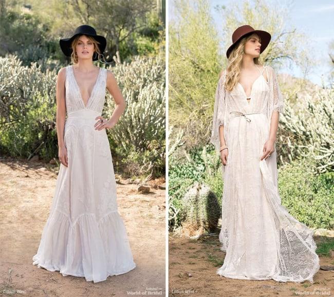 vestido de noiva rústico com estilo boho