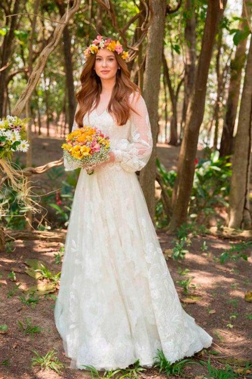 vestido de noiva rústico