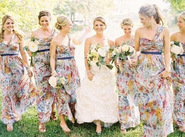 vestidos floridos para madrinhas