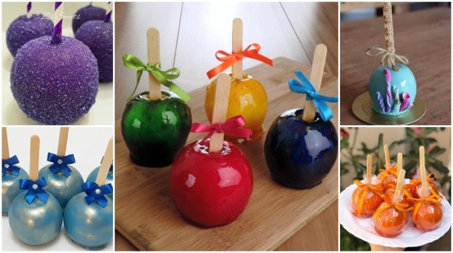 receitas de como fazer maçã do amor colorida