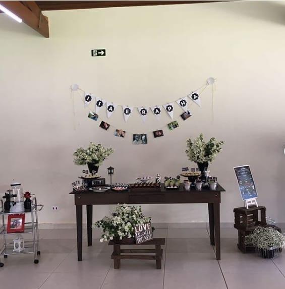decoração simples festa de bebê