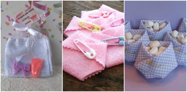 lembrancinhas de chá de bebê simples e baratas
