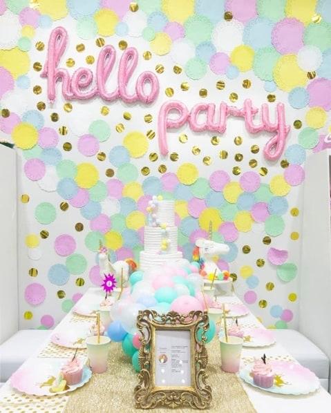 decoração festa colorida