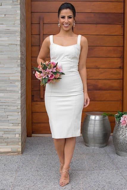 vestido tubinho para noiva