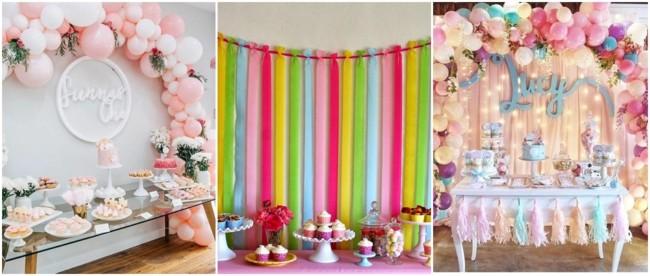 decoração festa tumblr colorida