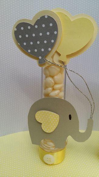 tubete decorado para chá de bebê