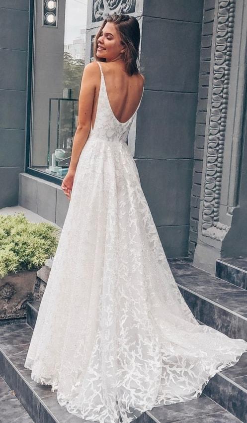 vestido de noiva longo e em renda