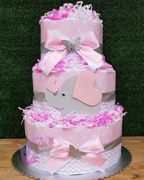 bolo decorado elefantinho