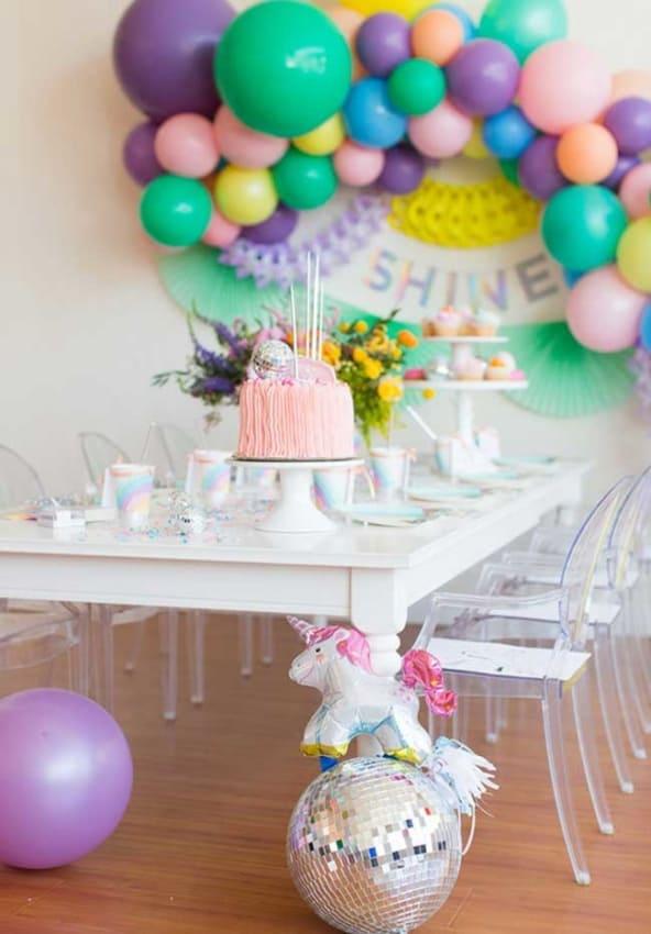 festa infantil com decoração tumblr