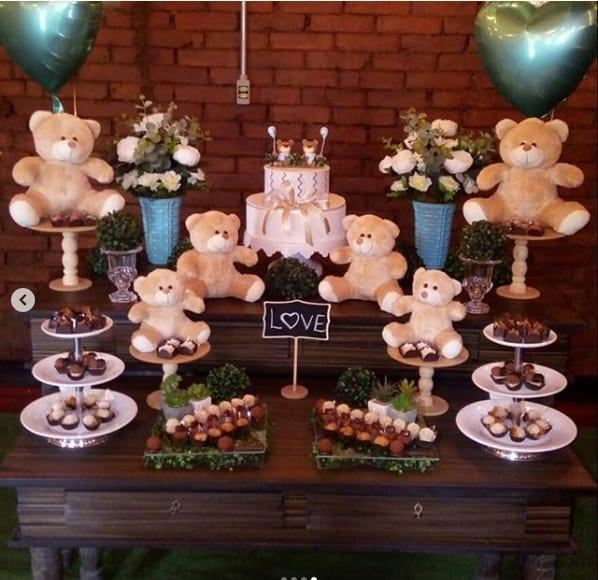 decoração de ursos chá de bebê