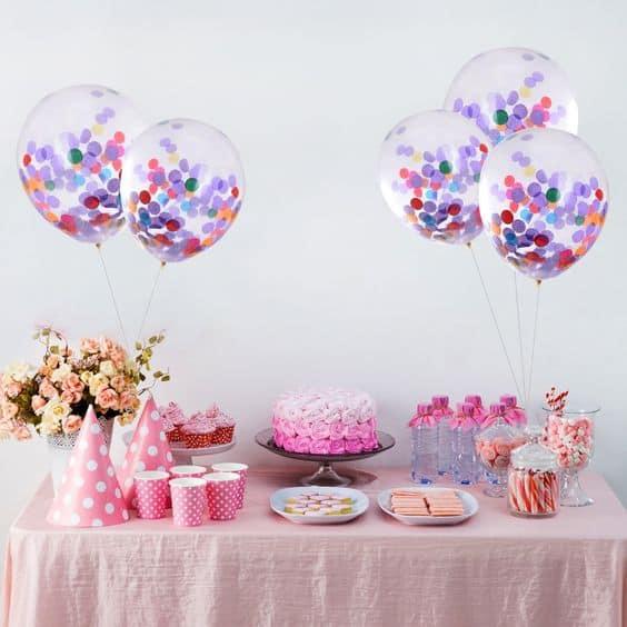 decoração de festa em casa com balões