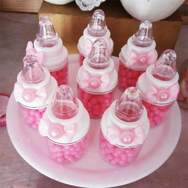 lembrancinha simples para chá de bebê rosa