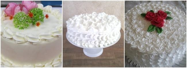 bolos decorados em branco