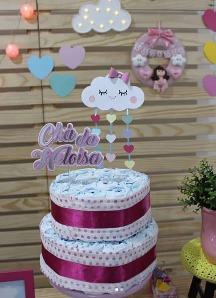decoração chuva de amor simples