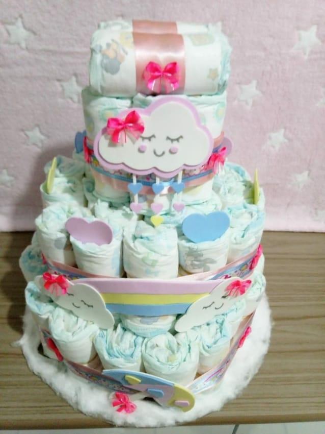 bolo simples festa chuva de amor